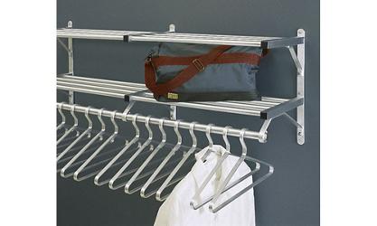 "Coat Rack with 2 Shelves 54"" Long, 92127"