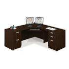 """Contemporary Compact Corner L-Desk - 71"""" x 71"""", 13336"""
