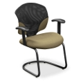 Guest Chair with Mesh Insert and T-Arms, 50518