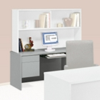 Kneespace Credenza with Keyboard Tray, 10432