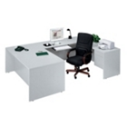 Executive U-Desk with Right Bridge, 10784