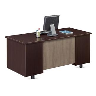 """Ascend Double Pedestal Compact Desk - 60""""W, 13851"""