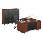 Ascend Left Return L-Desk and Vertical File Storage Wall, 13869