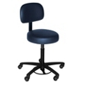 Helix Doctor Stool with Black Base and Back Rest, 25059