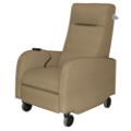 Motor Motor Assist Patient Recliner with Aluminum Pushbar in Fabric, 25260