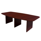 Hyperwork 8' Expandable Boat Shaped Conference Table, 44614