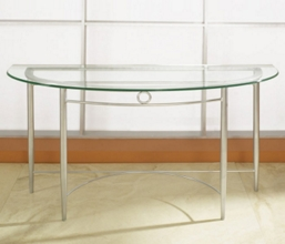 Sofa Table with Glass Top, 53844