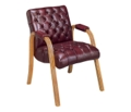 Traditional Vinyl Guest Chair, 55272