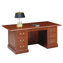 "Double Pedestal Executive Desk 72""W, 15920"