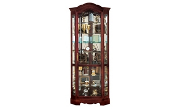 Corner Display Case with Mirror Back, 31430