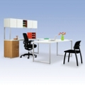 HON Voi U-Desk with Hutch, 13376