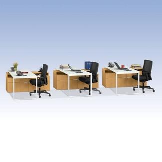 HON Voi Three Piece Compact L-Desk Set, 13411