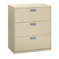 "600 Series Heavy-Duty Three Drawer Lateral File 36"" W, 30714"