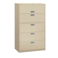 """600 Series 42""""W Heavy Duty Five Drawer Lateral File, 30717"""