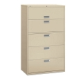 "600 Series 42""W Heavy Duty Five Drawer Lateral File, 30717"