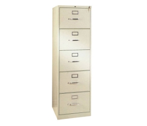 "Five Drawer Letter Size Vertical File - 28-1/2""D, 34015"
