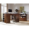 Double Pedestal Desk and Stool Set, 13985