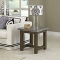 """Concrete Top End Table with Wood Frame - 22""""W, 76485"""