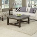 """Concrete Top Coffee Table with Wood Frame - 36""""W, 76486"""