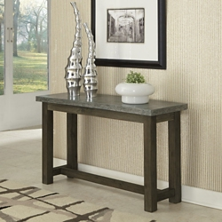 "Concrete Top Console Table with Wood Frame - 48""W, 76487"