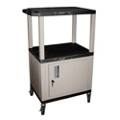 "42""H Utility Cart with Cabinet, 43178"