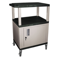 """34""""H Utility Cart with Cabinet, 43179"""