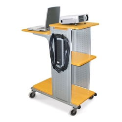 Presentation Cart with Surge Protector, 43195