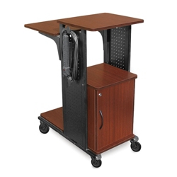 Presentation Cart with Surge Protector and Locking Cabinet, 43196