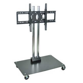 """Adjustable Height Mobile Flat Panel TV Stand - 50"""" H, 43248"""