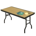 "Lightweight Rectangular Folding Table - 96"" x 30"", 41249"
