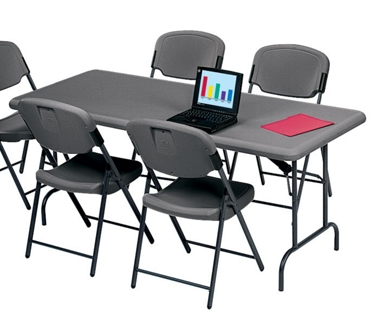 "Lightweight Rectangular Folding Table - 96"" x 30"", 41253"