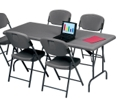 "Lightweight Rectangular Folding Table - 72"" x 30"", 41252"