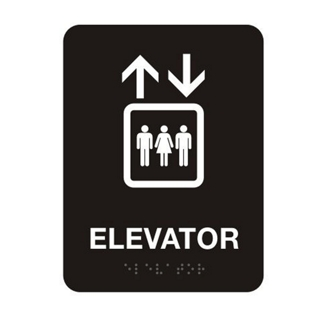 "Elevator Sign - 6""W x 8""H, 25663"