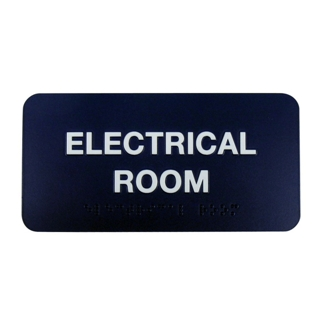 "Electrical Room Sign - 8""W x 4""H, 25664"