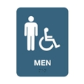 "Mens Handicap Restroom Sign - 6""W x 8""H, 25667"