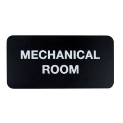 "Mechanical Room Sign - 8""W x 4""H, 25669"