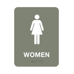 "Womens Restroom Sign - 6""W x 8""H, 25674"