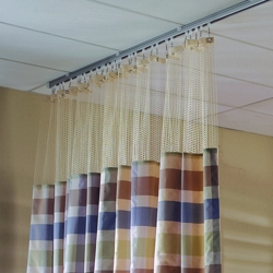 "Striped Print Privacy Curtain - 102""W x 86""H, 25686"