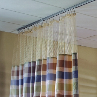 "Striped Print Privacy Curtain - 126""W x 74""H, 25688"