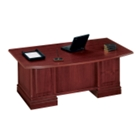 Traditional Executive Desk 6' Wide with Bowed Top, 10688