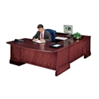 Traditional U Desk with Left Return and Bowed Top, 10691
