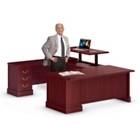 U-Desk with Adjustable Height Left Bridge, 13508