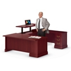 U-Desk with Adjustable Height Right Bridge, 13509