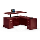 Adjustable Height L-Desk with Right Return, 13510