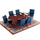 "Traditional Oval Conference Table - 120"" x 48"", 40333"