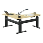 "Adjustable Height L-Desk with Electric Lift - 72""W, 13718"