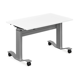 "Adjustable Height Flip Top Whiteboard Table - 48""W, 41421"