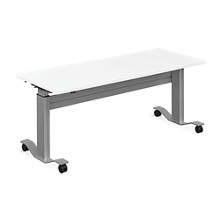 "Adjustable Height Flip Top Whiteboard Table - 60""W, 41422"