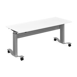 "Adjustable Height Flip Top Whiteboard Table - 60""W, 41422"