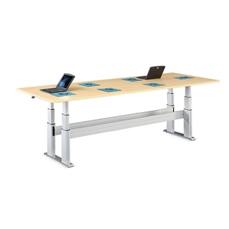"""Meridian Adjustable Height Conference Table - 120""""W x 54""""D, 46118"""
